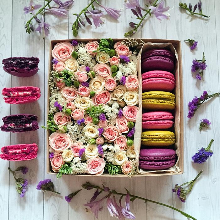 Как сделать коробочку с цветами и сладостями своими руками