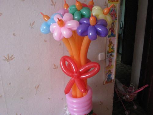Букеты из шаров сделаны своими руками