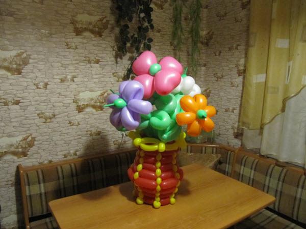 Воздушные букеты из шаров своими руками