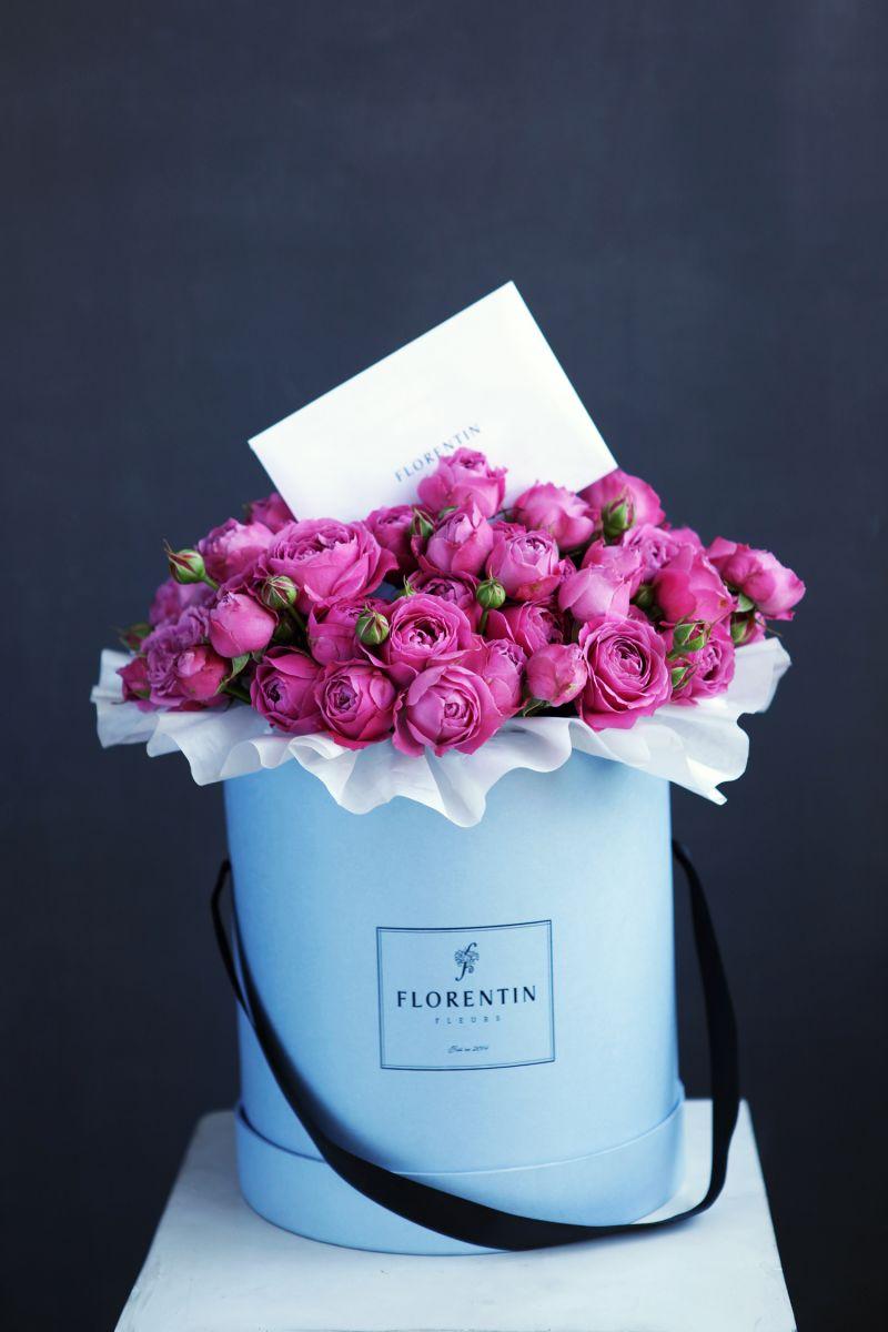 модная коробка с цветами флорентин