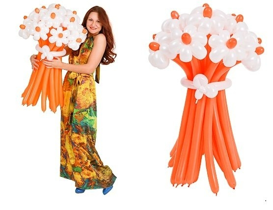 Цветы из воздушные шары своими руками