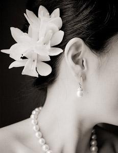 свадебный букет невесты георгин цветы волосы украшение фото свадьба