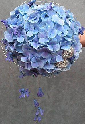 гортензии фото букет свадебный цветы