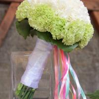 свадебный букет невесты гвоздика флористика цветы фото свадьба