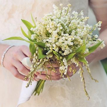 свадебный букет невесты флористика ландыши цветы