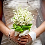 букет свадебный ландыш цветы флористика свадьба