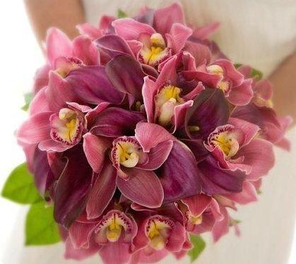 свадебный букет невесты флористика орхидея цветы фото свадьба