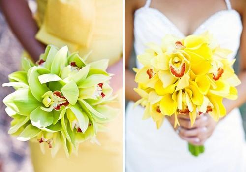 свадебные букеты из орхидеи флористика фото