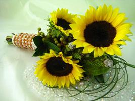 подсолнух букет невесты свадьба флористика цветы