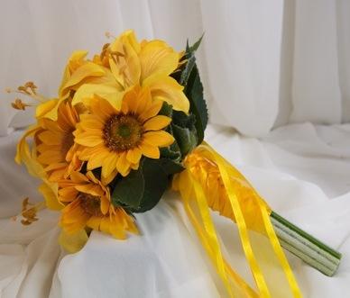 свадебный букет фото подсолнух флористика цветы невеста