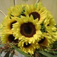 свадебный букет подсолнух цветы флористика