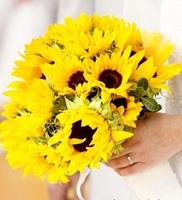 свадебные букеты невесты флористика подсолнух фото