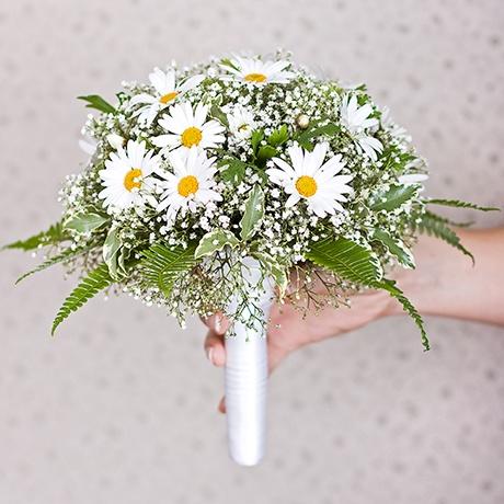 букет невесты фото свадьба цветы ромашка