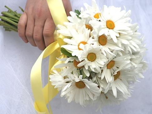 ромашка свадебный букет