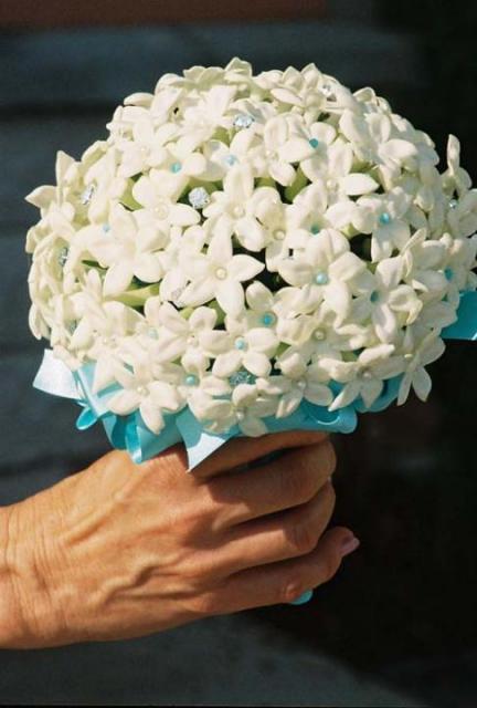 букет свадебный стефанотис