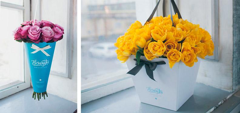Модная упаковка для цветов 2017