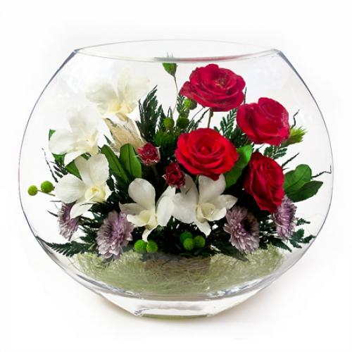 Невянущие живые цветы синие розы в минске купить